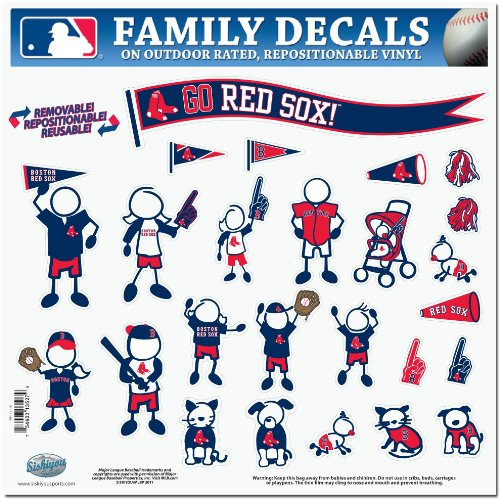 MLB Boston Red Sox Large Family Decal Set