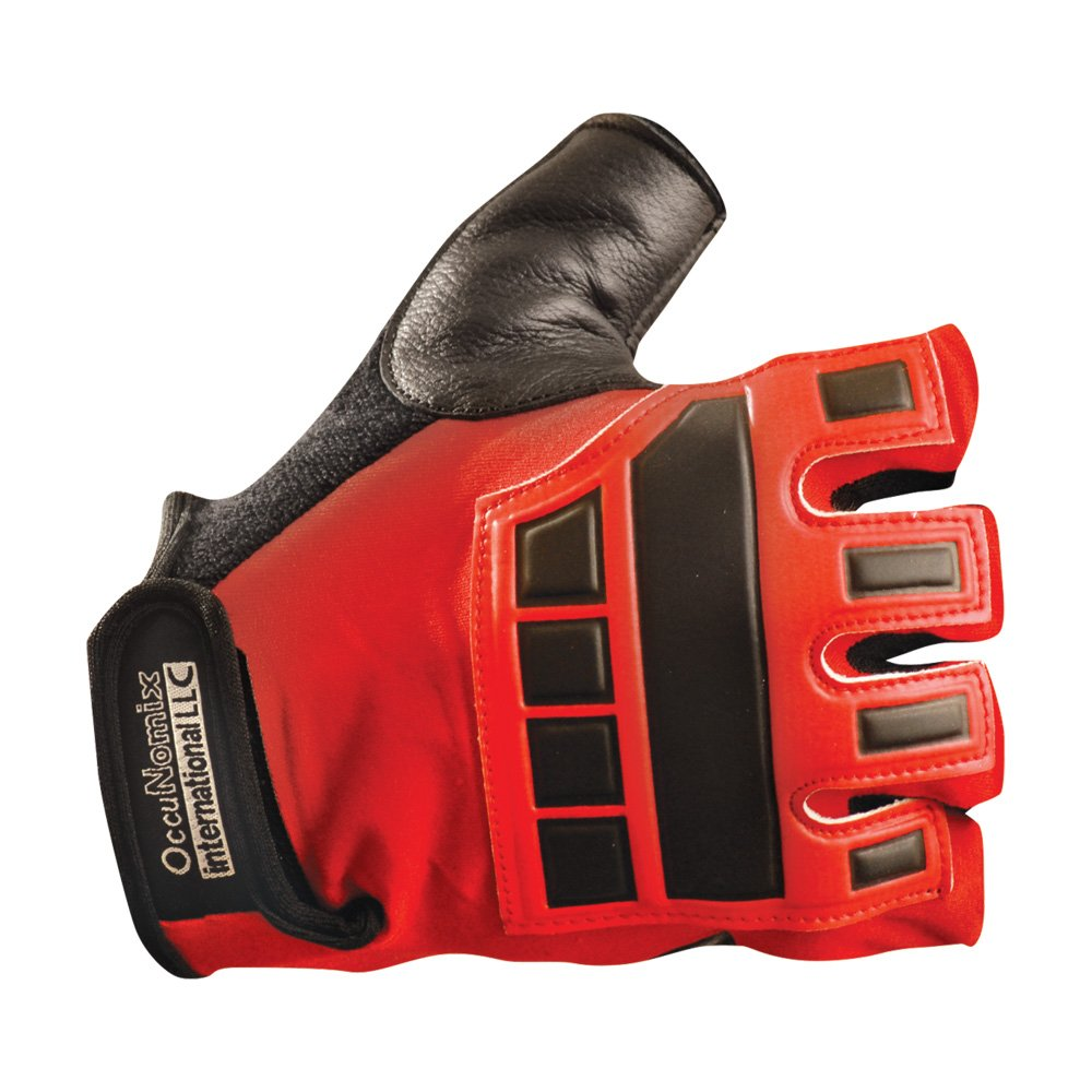 Occunomix Deluxe Vibration and Impact Protection Gloves M Red