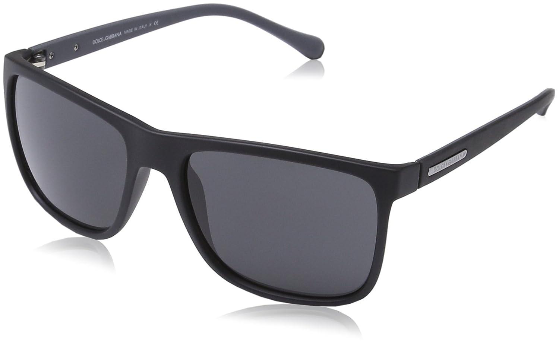 Dolce & Gabbana Herren DG 6086 OverMolded Rubber Wayfarer Sonnenbrille