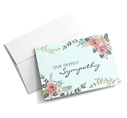 Amazon flowering empathy sympathy cards 25 signature flowering empathy sympathy cards 25 signature greeting cards with your custom message and envelopes m4hsunfo