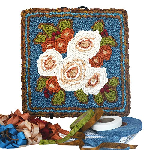 Fabric Locker Hooking - Winter Bouquet Panel Locker Hooking Kit