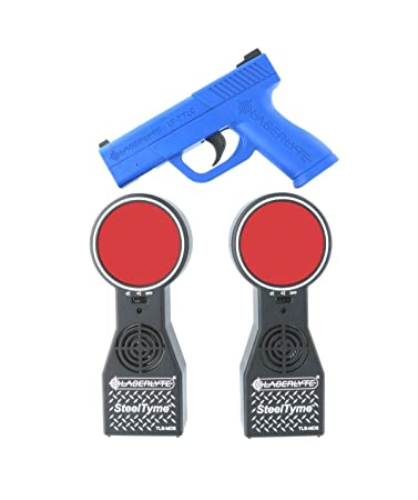amazon com laserlyte trainer target steel tyme with plinking steel