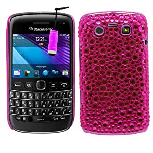 SAMRICK - Blackberry 9790 Bold - Cromo Hecho A Mano Piedra Preciosa Bling Diamanté Funda Protectora Con Protector De Pantalla & Paño De Microfibra & Rosado (Pink) Mini Lápiz Capacitivo Alta - Rosado (Pink)
