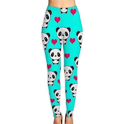 Abusss Pantalons Yoga de Tela Deportivos de Cintura Alta Pantalones de Womens Leggings Lovely Panda Popular High Waist Yoga Pants: Ropa y accesorios