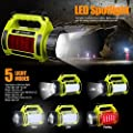 LE Rechargeable Camping Lantern Power Bank Super Bright Flashlight 3 Modes Lamp Dimmable LED Spotlight