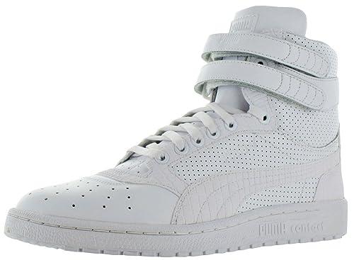 PUMA Men s Sky II Hi Mono Texture White Gray Violet Sneaker 10 D (M ... 25f988f2b