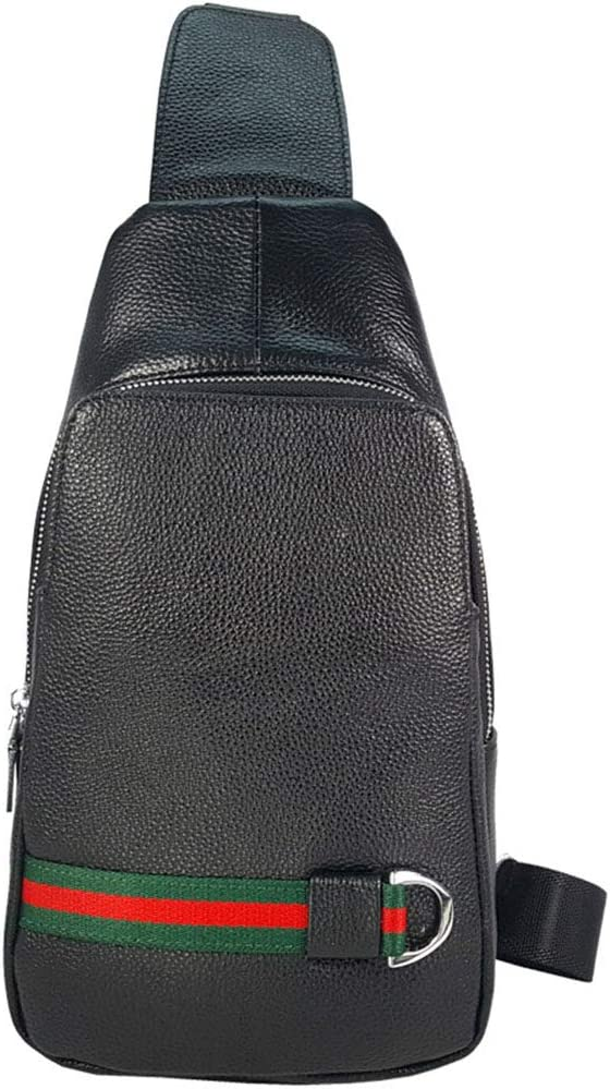 Ybriefbag Outdoor Sports Sling Backpack Leather Chest Bag Crossbody Shoulder Bags Men Sling Bag Crossbody Backpack Women Men