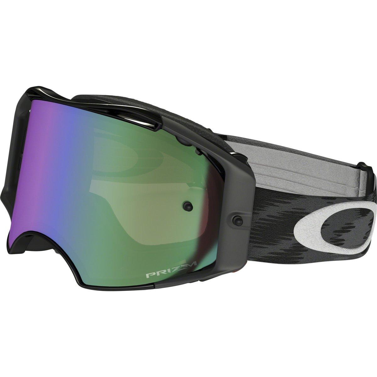 Oakley Airbrake MX Jet Black wPrizmMX Jade unisex-adult Goggles (Black, Medium), 1 Pack