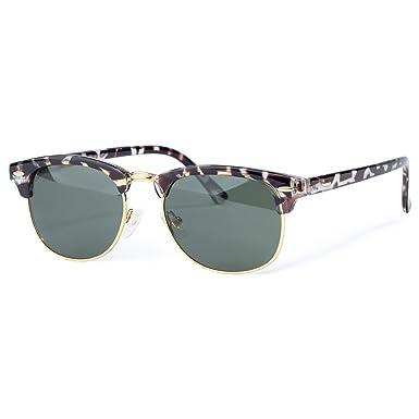 COLOSSEIN moderne Sonnenbrille, Halbrand, polarisiert, klassisches Design für Damen und Herren