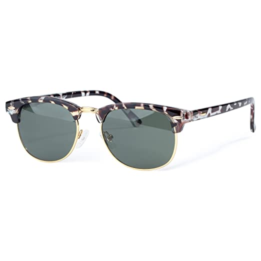 117566be55f Amazon.com  COLOSSEIN Classic Semi Rimless Sunglasses for Men Women ...