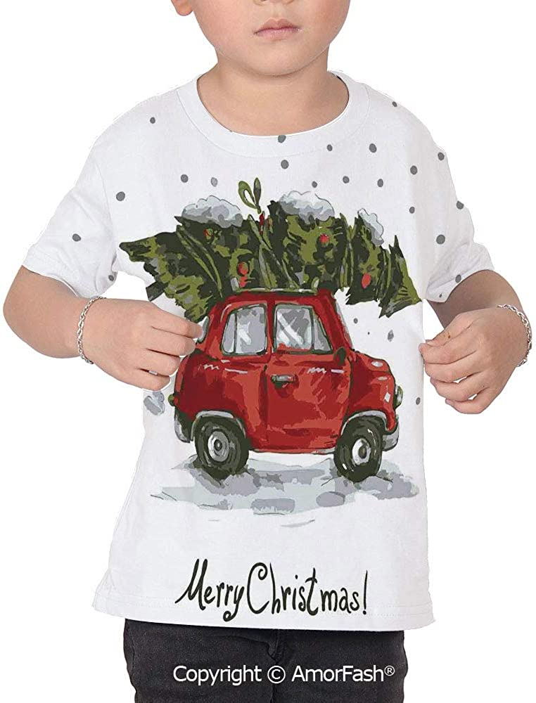 Christmas Decorations Girl Regular-Fit Short-Sleeve Shirt,Personality Pattern,Re