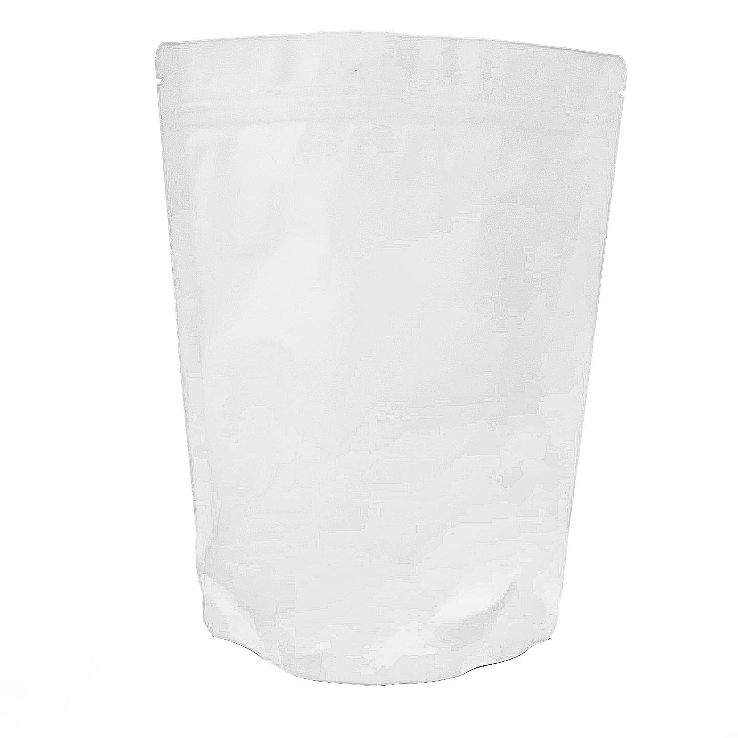 Matte White 7.8 X 10.6 Stand Up Airtight Zipper Genuine Aluminum Pouches - Smell Leak Proof Odor Resistant - Medical Herbs Coffee Powder Spices Multi-Purpose Storage Bags 16 oz (10)