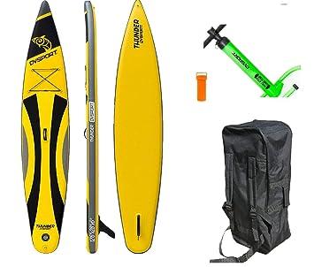 DVSPORT Paddle Board Thunder Negro/Amarillo: Amazon.es ...