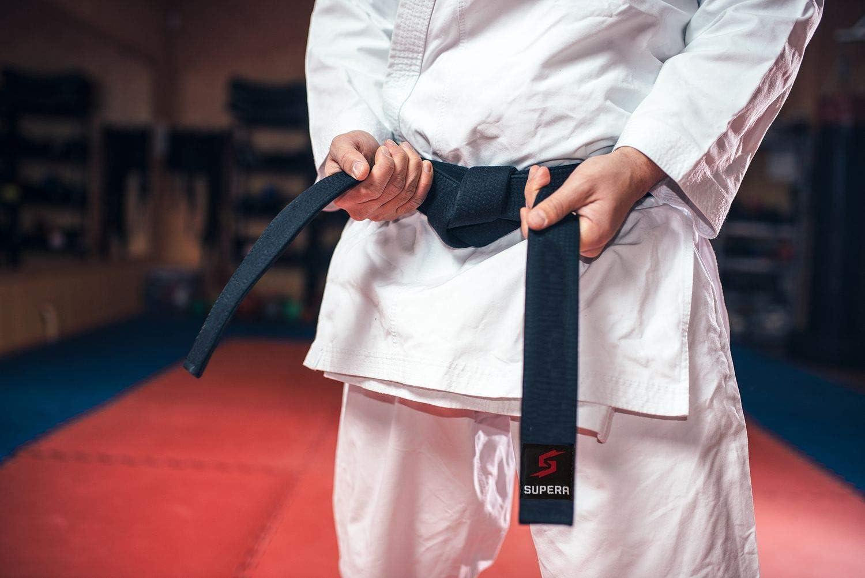Taekwondo G/ürtel f/ür Kinder und Erwachsene Karate G/ürtel aus extra dickem Stoff Budog/ürtel Supera Kampfsport G/ürtel in verschieden Farben und L/ängen