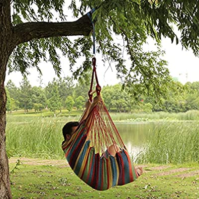 ZHAO YELONG Columpio Colgante para Actividades Al Aire Libre, Cuna para Niños, Silla con Hamaca, Jardín Y Patio (Color : Rojo, Tamaño : M): Amazon.es: Hogar