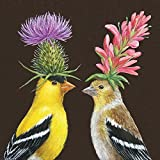 Paperproducts Design Paper Vicki Sawyer Goldfinch Couple Luncheon Napkins by Paperproducts Design