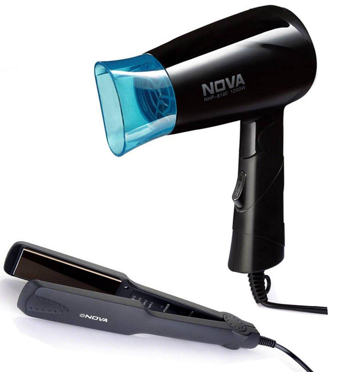 Nova Miss Freshers Combo Kit, Hair Straightener and Hair