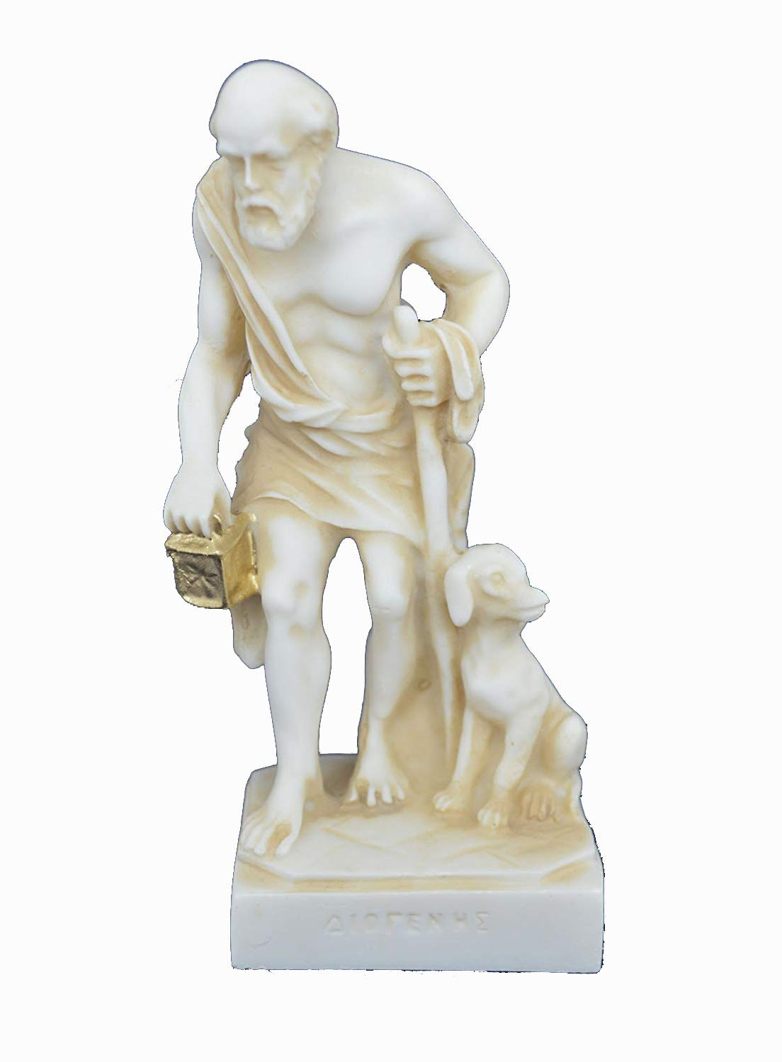 Estia Creations Diogenes Sculpture The Cynic Aged Statue Ancient Greek Philosopher by Estia Creations
