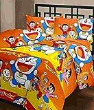 CrazeVilla Doremon Cartoon Printed single bed reverssible AC blanket/Dohar for Kids