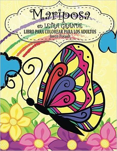 Mariposa En Letra Grande Libro Para Colorear Para Los