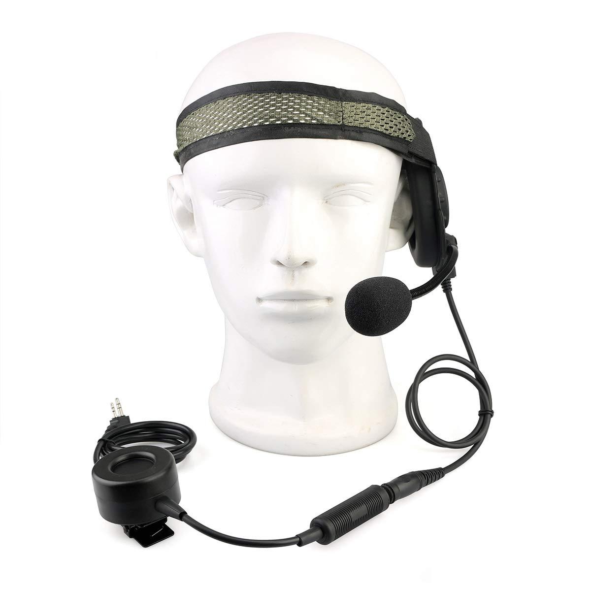 Amazon.com: Retevis EH060K 2 Way Radio Headset Tactical ...