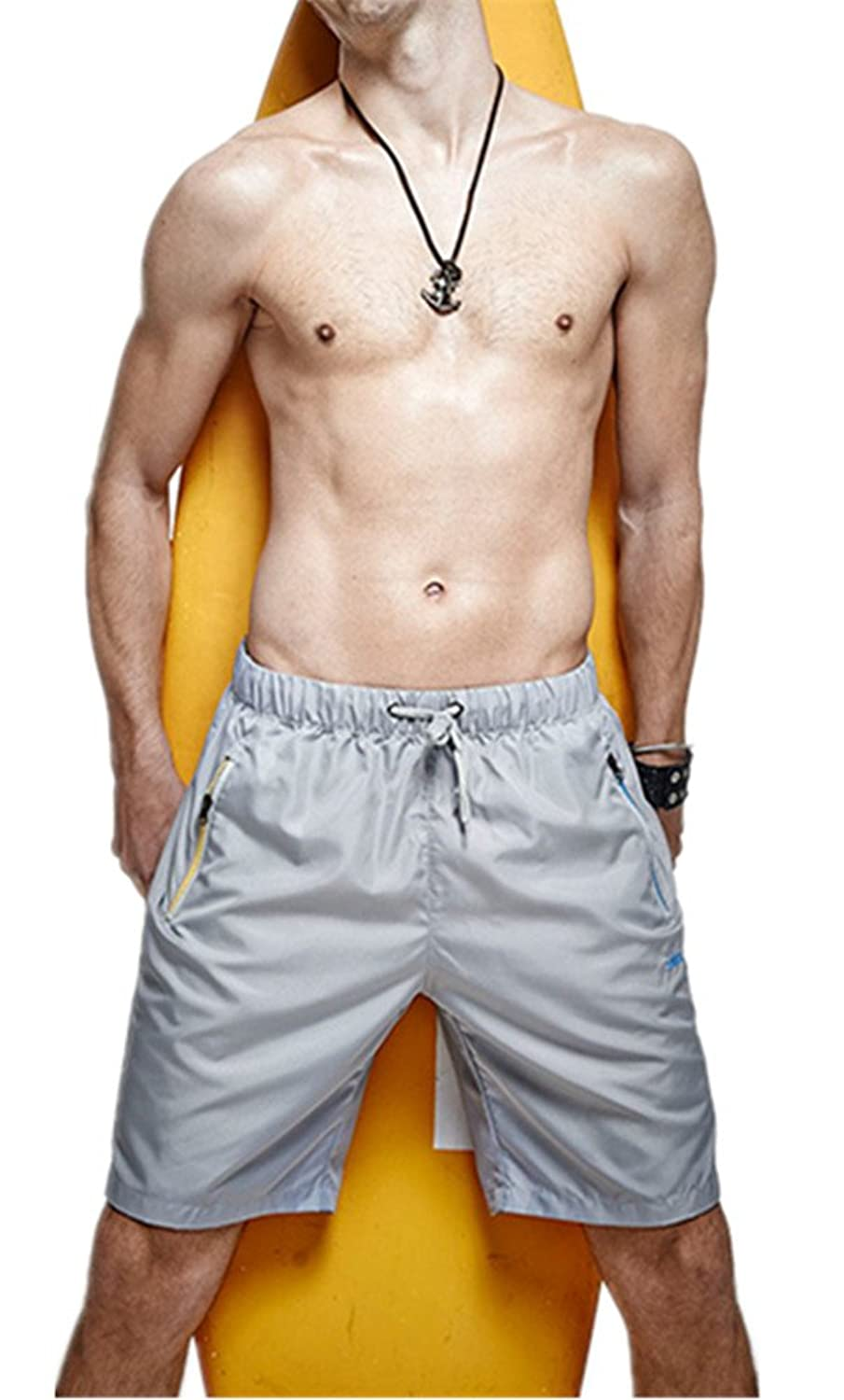 Emoyi Men's Surfing Shorts Beach Pants Sports Athletic Trousers Active Underwear.