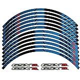 2014 suzuki gsxr 1000 stickers - Blue 10 X CUSTOM RIM DECALS WHEEL Reflective STICKERS STRIPES For Suzuki GSXR Gixxer 600 1000 750 1300 Hayabusa
