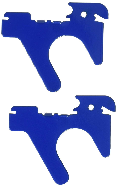Wall Control 10 BOE 007 BU Slanted U Shaped Slotted Metal Pegboard Hook for Wall Control Pegboard Only Blue