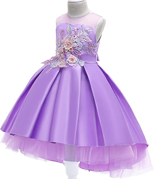Vestido de Fiesta Formal con tutú de Flores de Alta Gama para ...