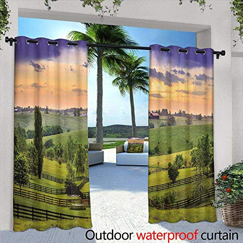 (Balcony Curtains,vipsung House Decor Tablecloth Sunset on the Sea Scenery from Window with Open Curtains Horizon Silence Relax Artprint Dining Room Kitchen Rectangular Table Cover,W72