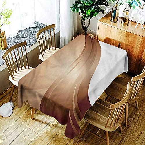 familytaste Chocolate,Personalized Tablecloths Spiraling Stripe 60