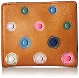 Fossil Emma Rfid Mini Wallet, Tan Rivets