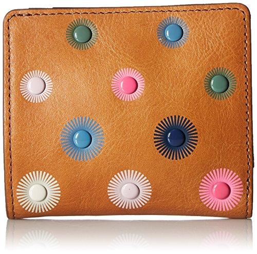 Fossil Emma Rfid Mini Wallet, Tan Rivets by Fossil