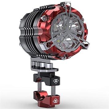 Focos LED De Motocicleta, Luces De Motocicleta De Acero Inoxidable, Accesorios Modificados Universales, Faros Externos, Luces Auxiliares, ...