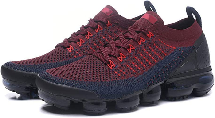 Men's Sneakers Air Cushion Vapor Max Fly Knit 2 3 Running Training Sport Shoes Light Blue Black Dark blue wine red gold standard