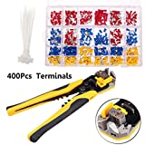Farway 400Pcs Connectors Electrical Wire Terminal Block Kit with Cutter Stripper Plier Crimper