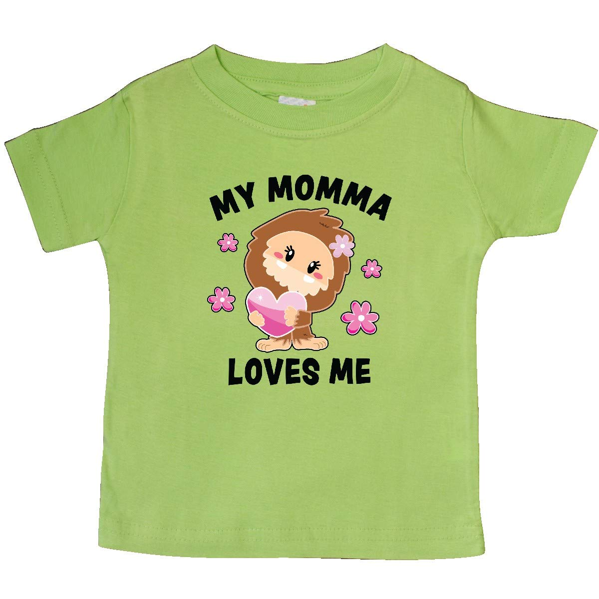 inktastic My Momma Loves Me with Bigfoot Baby T-Shirt