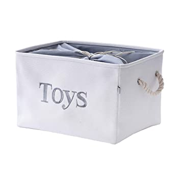 Cute Organizer Basket for Playroom Rectangular Storage Box for Books Kitchen Closet Large Classroom /& Bedroom Stylish Organization Bin Goes Great with Home Decor Fawn Hill Co