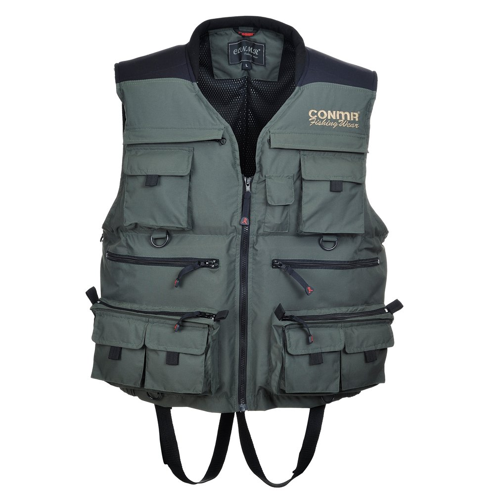 Greatrees men 39 s zippers life waistcoat personal floatation for Mens fishing vest