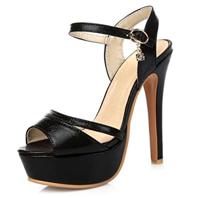 SMILICE Süß Damen Sandalen mit Open Toe Sliletto Absatz Fesselriemen Schuhe zL8foqji