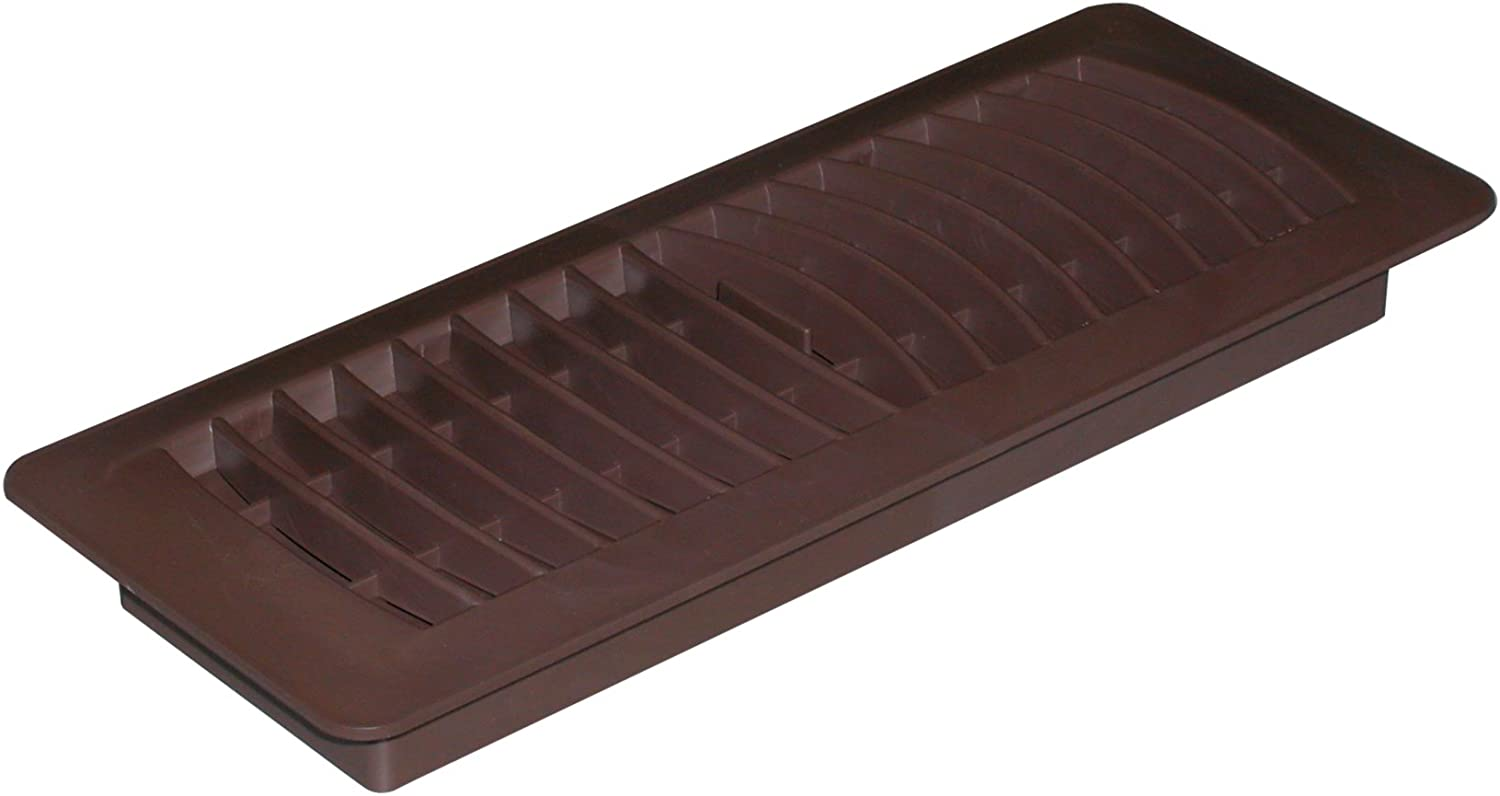 "Imperial 4"" x 12"" Louvered Floor Register, Brown, RG1460"