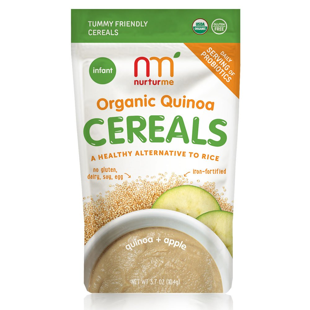 NurturMe Organic Infant Cereals, Protein-Packed Quinoa, 3.7 Ounce