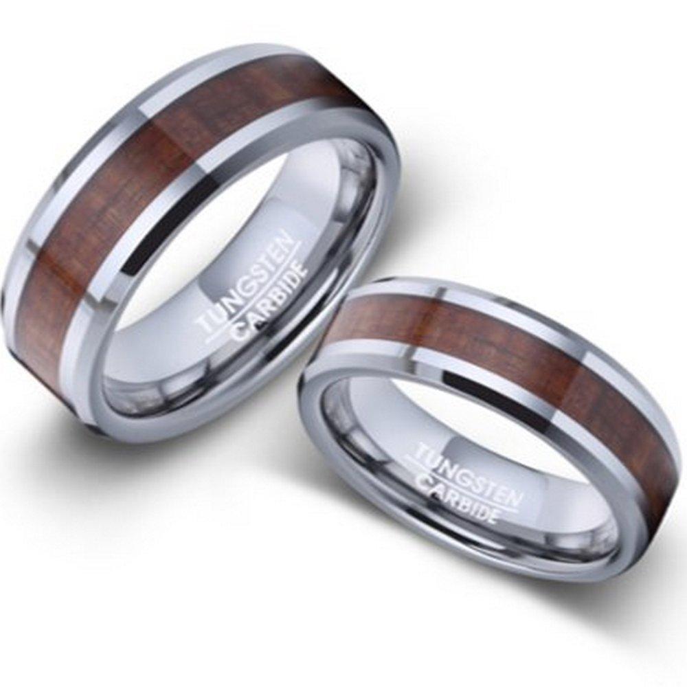 Men And Women's Tungsten Koa Wood Wedding Rings Sizes 420 Amazon: Koa Wedding Ring Men At Websimilar.org