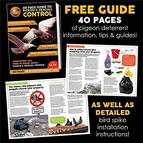 Sistema de Pinchos antipalomas Defender Narrow Plastic Bird and Pigeon Control Spikes - 5 Metros