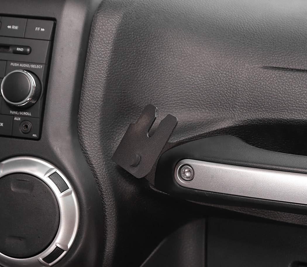 YBERLIN CB Mic Holder Mount Hand Held Microphone Radio Mounting for Jeep Wrangler JK 2011-2018 Passenger Grab Bar