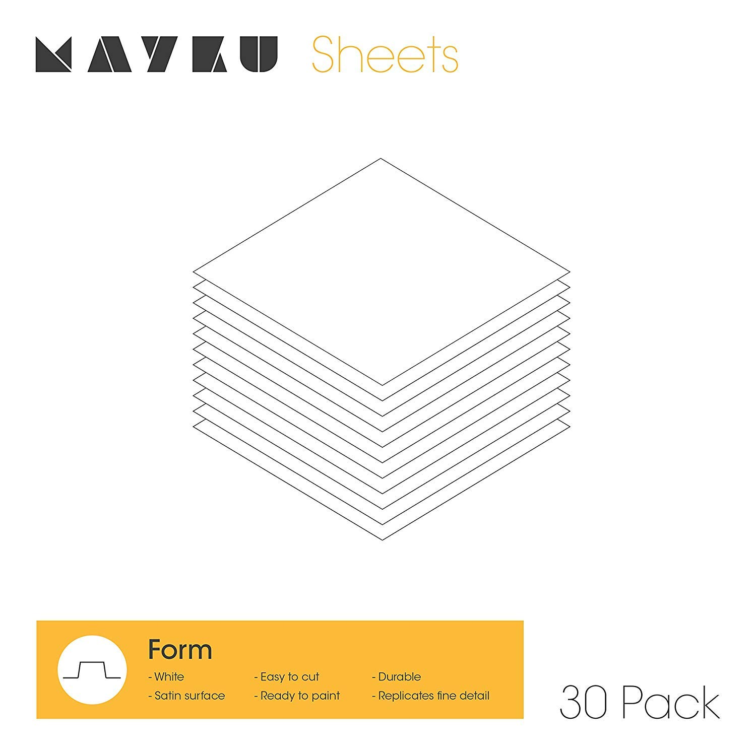 Mayku Form Sheets 30 Pack for The Mayku FormBox: a Desktop Vacuum Former That Brings Your Ideas to Life. by Mayku
