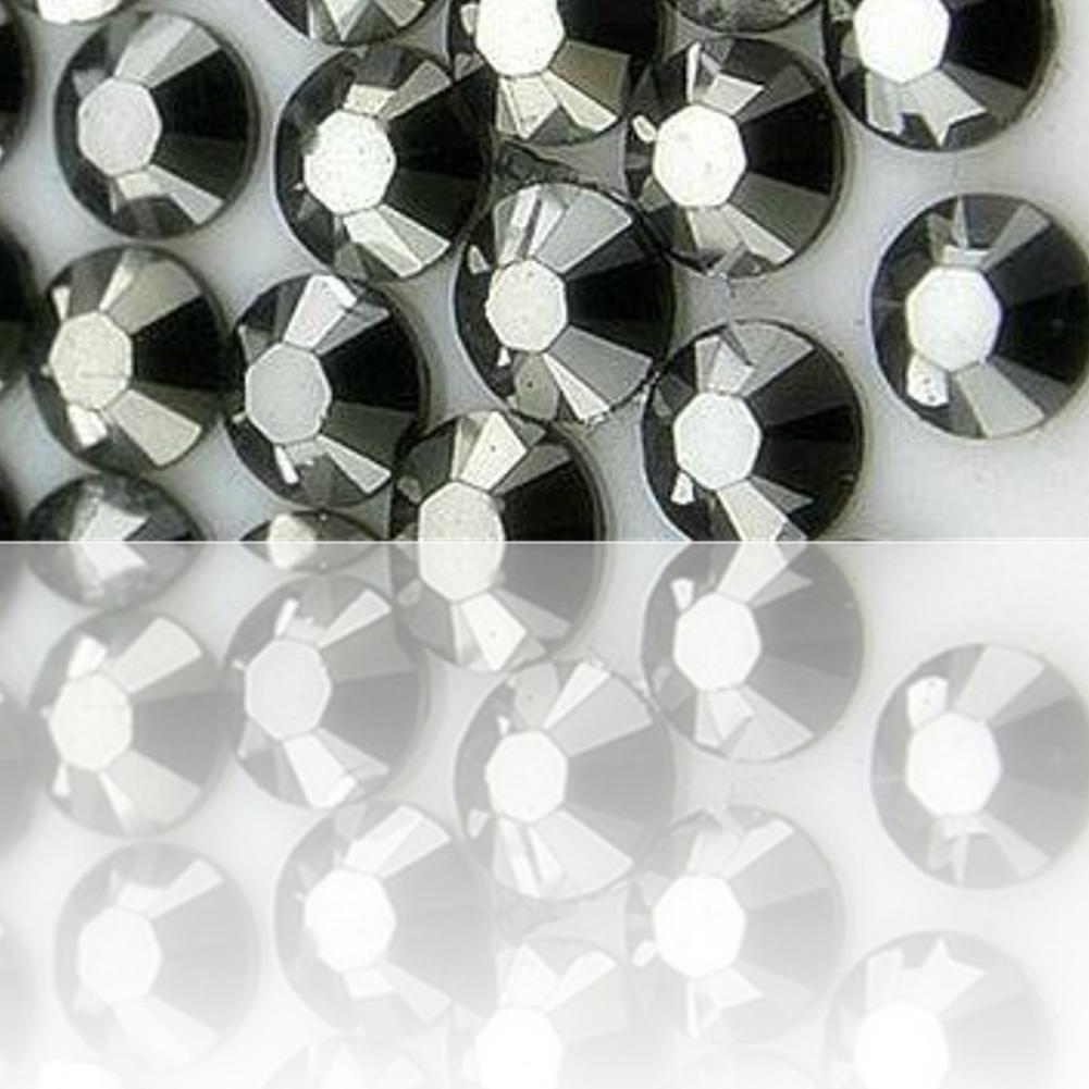 "100% Custom Made (Assorted) 1200 Bulk Pieces of Mini Size ""Glue-On"" Flatback Embellishments for Decorating, Made of Acrylic Resin w/ Shiny Iridescent Crafting Rhinestone Crystal Silver Style {Grey}"