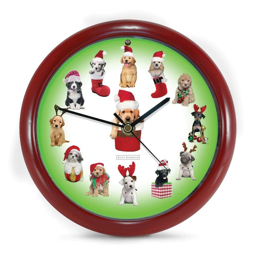 amazoncom mark feldstein puppy sound clock home kitchen - Musical Christmas Clock