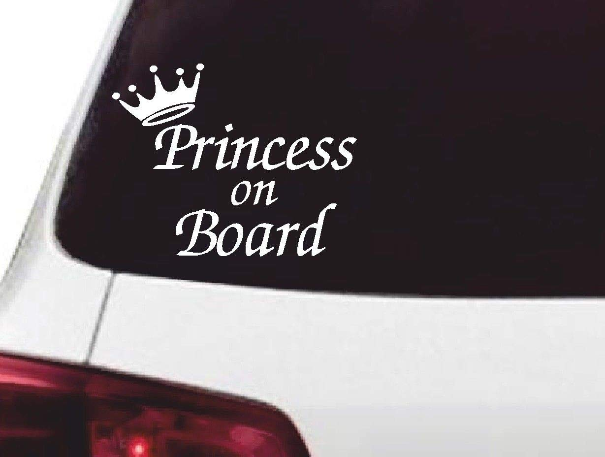 Non Personalised Child//Baby On Board Car Sign ~ Nanas Prince On Board ~ L.Blue
