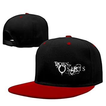 XCarmen Born Of Osiris Soul Sphere Logo Fitted Hats Red  Amazon.co ... f4f8fb4e874